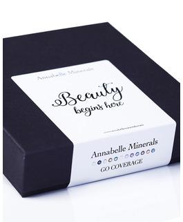 Minaturen Set von deckende Foundation GO COVEARGE von Annabelle Minerals