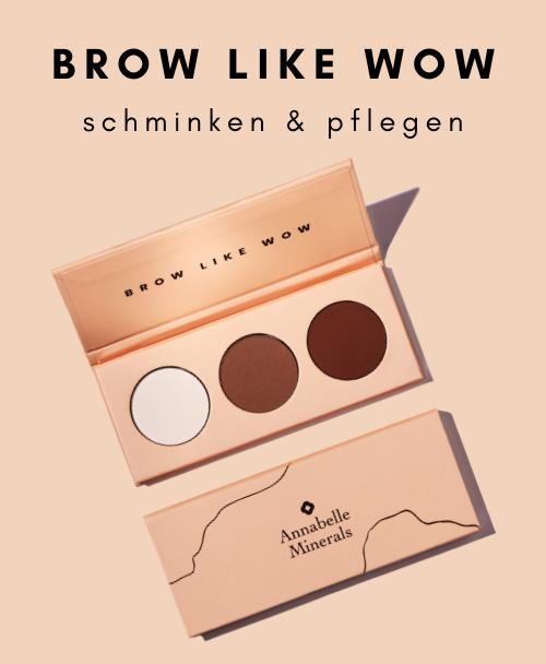 Die Palette BROW LIKE WOW ist das erste gepresste Produkt aus dem Annabelle Minerals-Sortiment. Erstellt, um die Augenbrauen ordentlich und elegant zu machen.