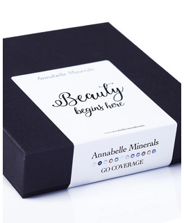 a set of coverage foundations miniatures GO COVERAGE by annabelle minerals