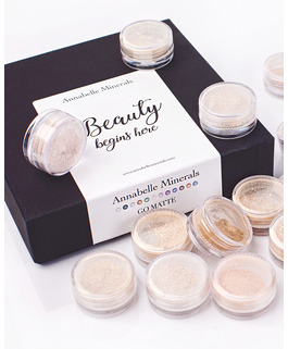 a set of matte foundations samples go matte by annabelle minerals