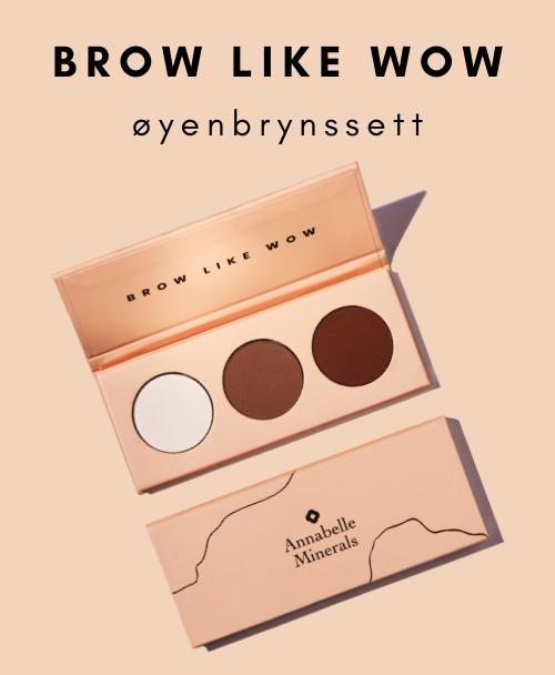 BROW LIKE WOW øyenbrynssett fra Annabelle Minerals er merkets første produkt i presset form. Settet er skapt med tanke på veldefinerte bryn som gir deg en elegant look.