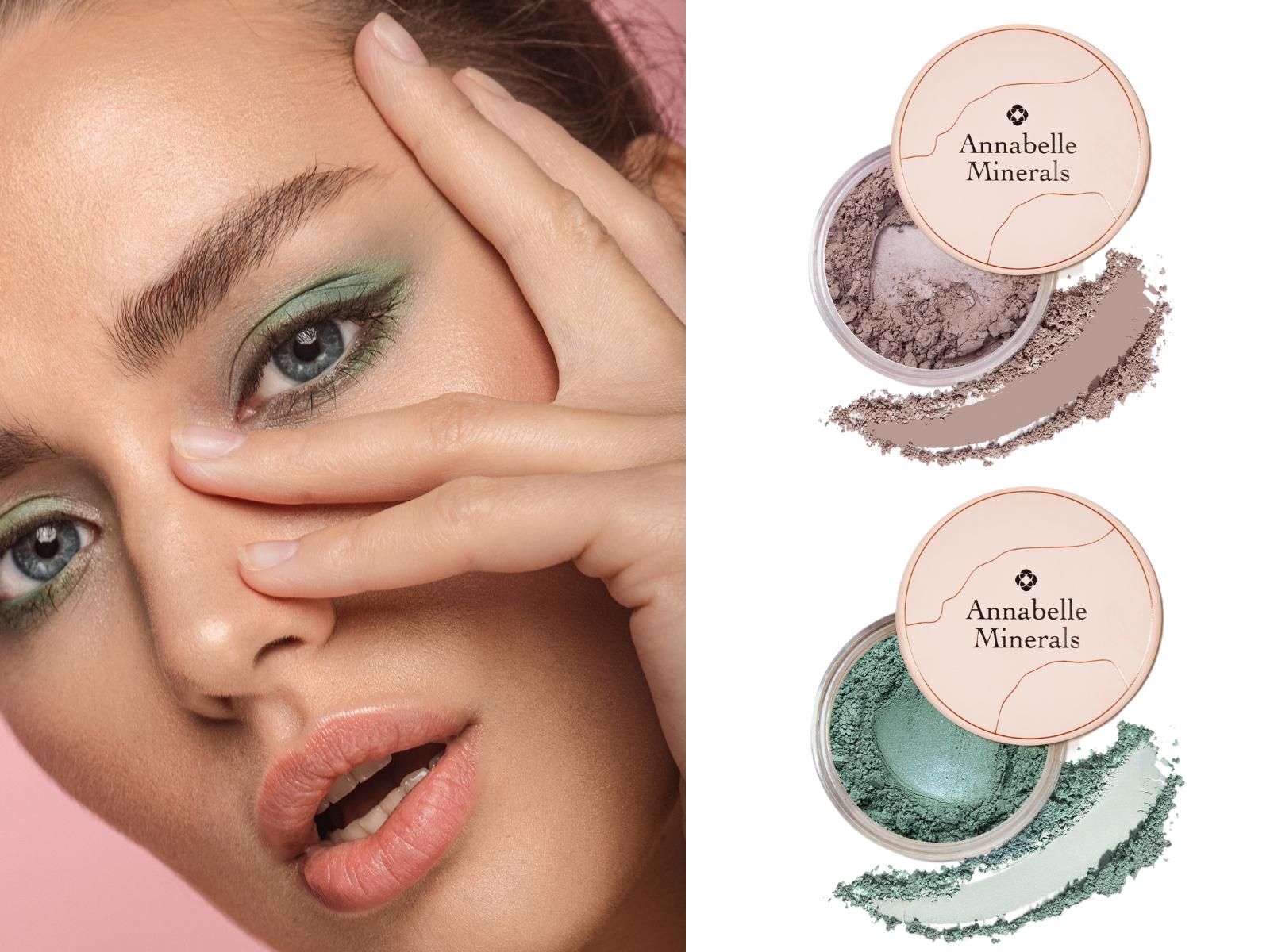 Makijaż w odcieniach brązu i zieleni