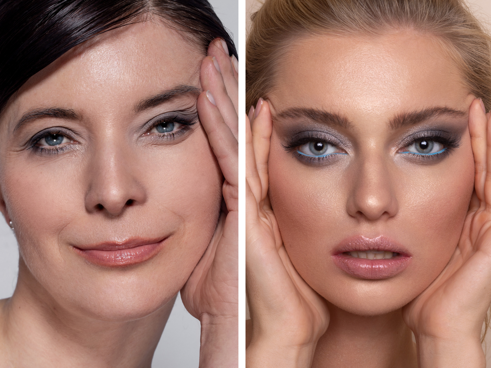 Makijaż w odcieniach szarości