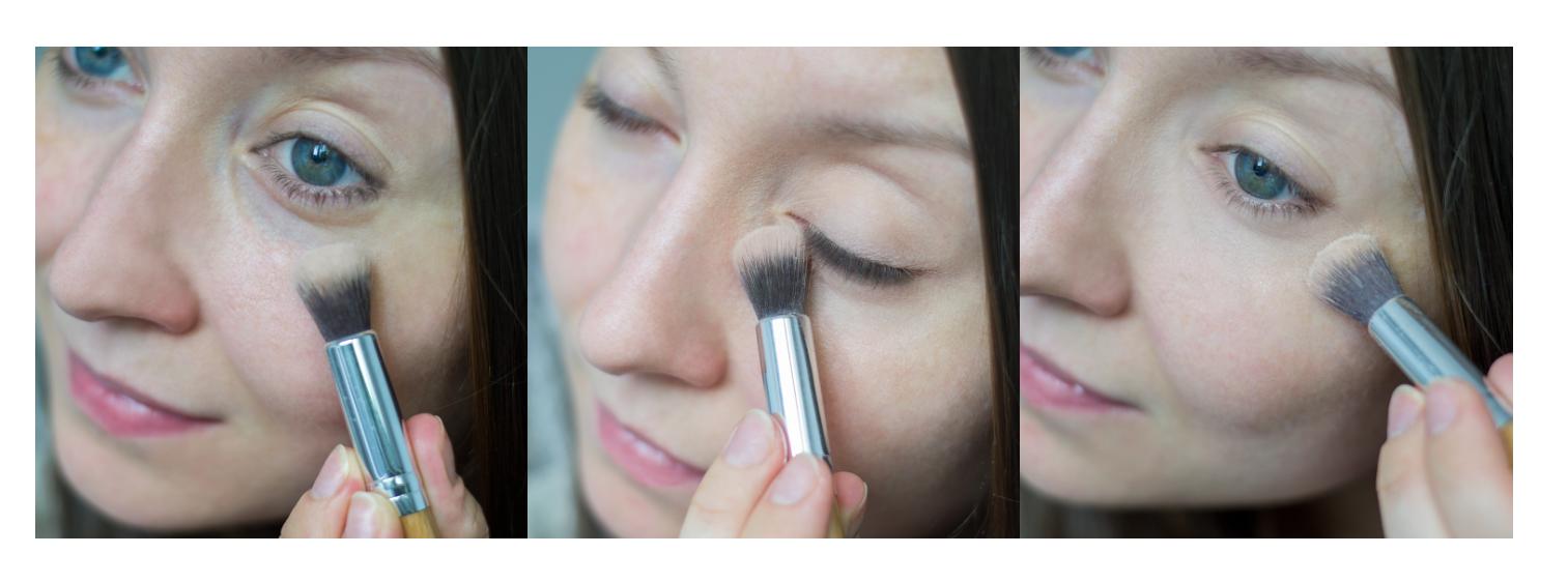 Tuszowanie cieni pod oczai kosmetykami mineralnymi Annabelle Minerals